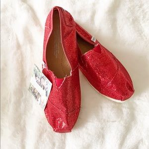 Toms Red Sequin Shoes